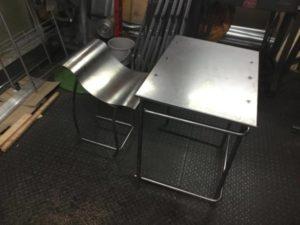 卒業制作 金属 テーブル
